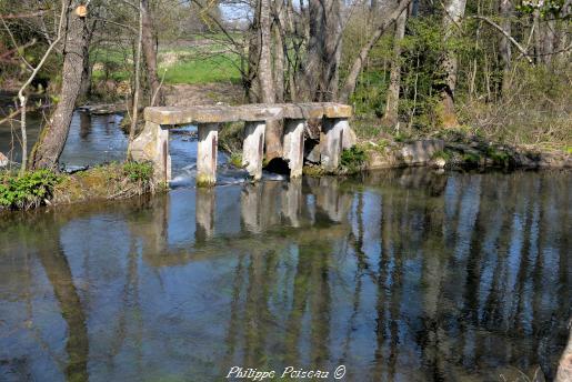 Ancien petit barrage de régulation sur le Nohain