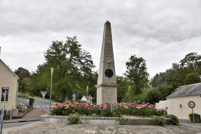 Stèle du 1851 à Neuvy sur Loire un beau patrimoine