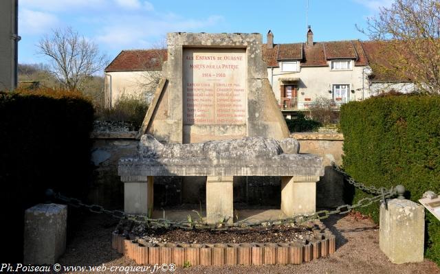 Monument aux Morts de Ouagne un hommage