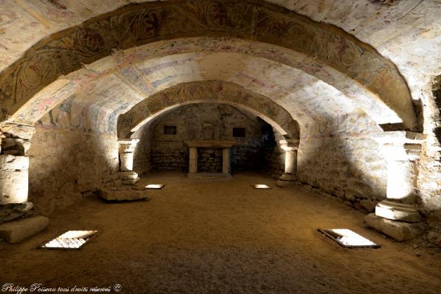 Crypte de l'église d'Alluy un remarquable patrimoine