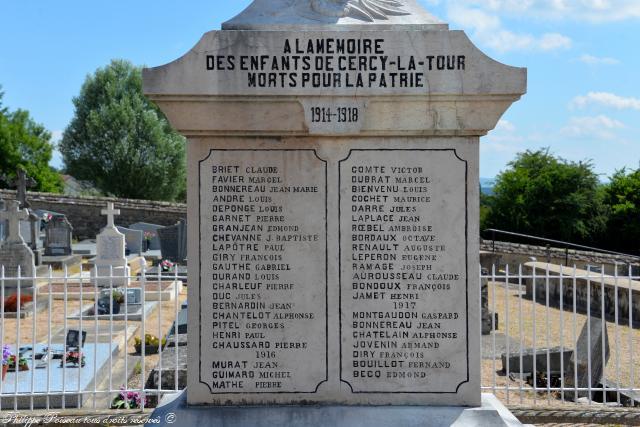 Monument aux morts de Cercy la Tour