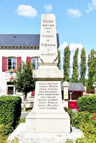 Monument aux morts de St Quentin Nièvre Passion