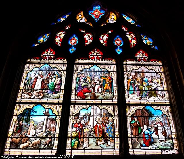 Vitraux de l'église de Corbigny Nièvre Passion