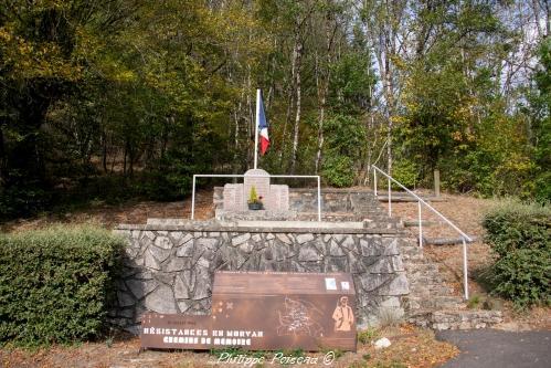 Stèle du Maquis Chaumard un remarquable maquis Nivernais