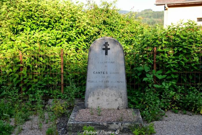 Stèle du fusillé de Le Maraut un patrimoine.