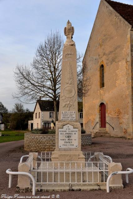 Monument aux Morts de Giry Nièvre Passion